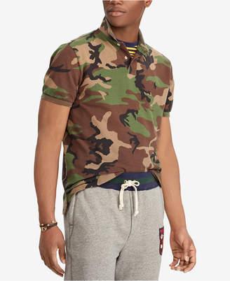Polo Ralph Lauren Men Custom Slim Fit Camouflage Polo
