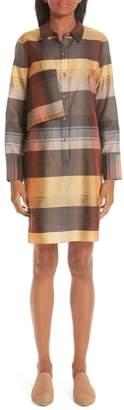 PARTOW Plaid Wool & Silk Dress