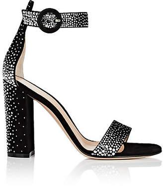 Gianvito Rossi Women's Portofino Studded Suede Sandals - Black