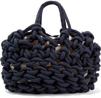 Alienina Woven Cotton Tote - Navy