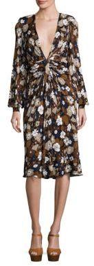 MICHAEL Michael KorsMichael Kors Collection Floral Deep V-Neck Dress