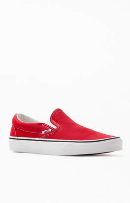 Vans Women's Red Classic Slip-On Sneakers