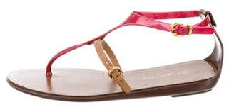 Sergio Rossi Slingback Thong Sandals