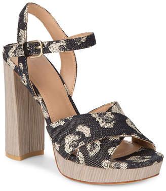 Pour La Victoire Yasmin Jacqyard Leopard Sandal