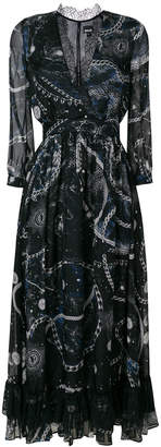 Just Cavalli abstract print midi dress
