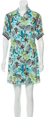 Anna Sui Printed Button-Up Dress