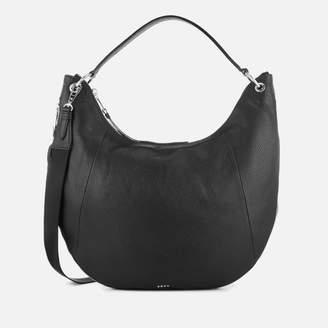 DKNY Women's Tompson Large Hobo Bag - Black/Silver