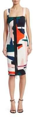 Cushnie et Ochs Sleeveless Print Pencil Dress