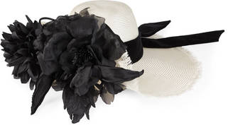Straw hat with silk flowers $1,450 thestylecure.com