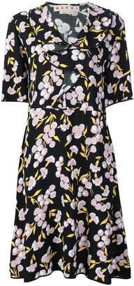 Marni ruffled floral print dress