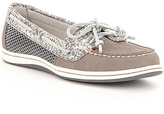 Sperry Firefish Python Printed Leather Slip-On Boat Shoes $90 thestylecure.com