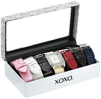 XOXO Women's XO9023 Rhinsetone-Accented Watch with Interchangeable Croc-Embossed Straps