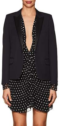 Saint Laurent Women's Wool Piqué Crop Blazer