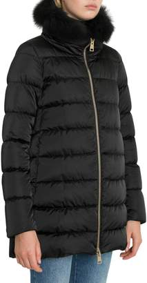 Herno Down Jacket With Fox Fur Collar