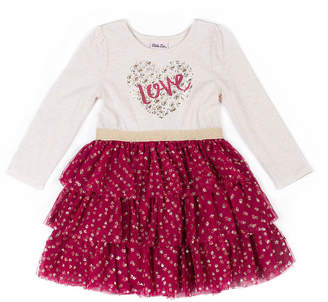 Little Lass Long Sleeve Tutu Dress - Baby Girls