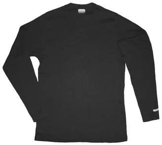 VISONE Men's Body Stretch Slim Fit Compression Long Sleeve T-Shirt V-neck 100% Cotton Size: L