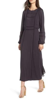 Hinge Lace Inset Midi Dress