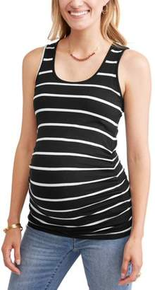 Oh! MammaMaternity sleeveless tank with flattering side ruching - available in plus sizes