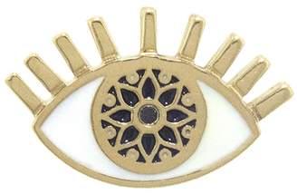 Sydney Evan Kaleidoscope Evil Eye Single Stud Earring - Yellow Gold