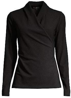 Donna Karan Women's Long-Sleeve Wrap Top