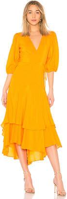 Ganni Wilkie Seersucker Dress