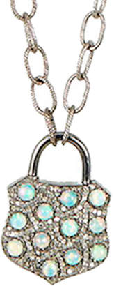 Adornia Fine Silver 5.1 Ct. Tw. Diamond Opal Necklace