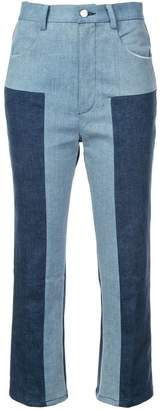 Rachel Comey colour block cropped trousers