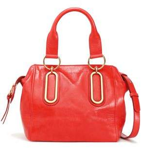 See by Chloe Paige Cracked-leather Shoulder Bag