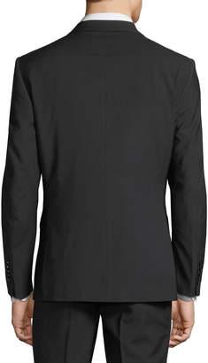 English Laundry Men's Two-Piece Suit w/ Rose Lapel, Black