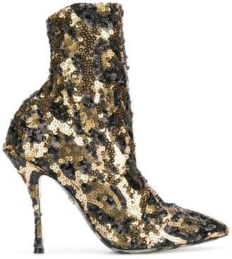 Dolce & Gabbana sequin ankle boots