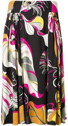 Emilio Pucci abstract print gathered skirt