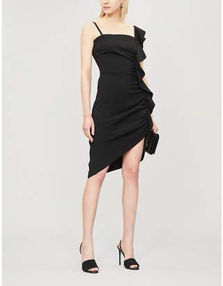 Pinko Anita Ruffled Asymmetric Crepe Mini Dress
