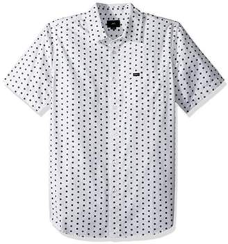 Obey Men's Brighton Woven Short Sleeve Button up Shirt