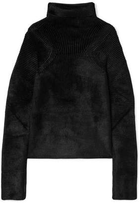 Haider Ackermann Oversized Ribbed Chenille Turtleneck Sweater - Black
