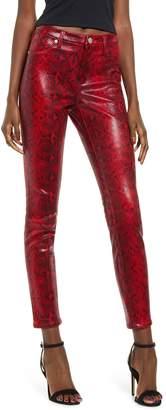 Blank NYC Blanknyc Faux Python Skinny Pants