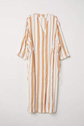 H&M Linen-blend Kimono - Natural white/striped - Women