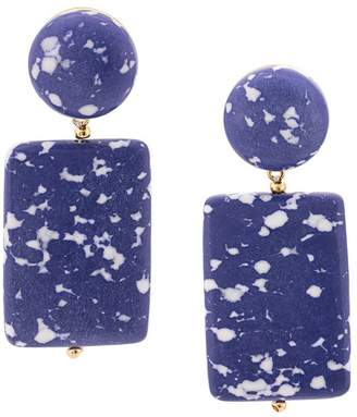 Lele Sadoughi marble effect post earrings