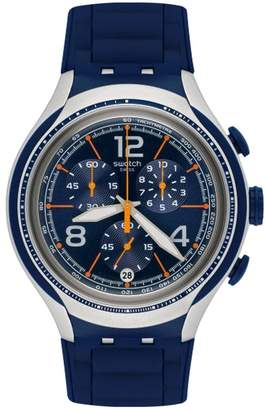 Swatch Men's Xlite YYS4015 Blue Silicone Swiss Quartz Watch