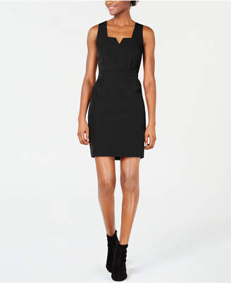 Bar III Notched-Neck Bodycon Dress