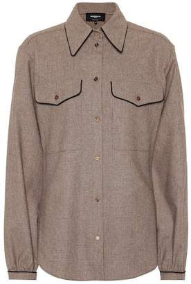 Rochas Checked wool-blend shirt