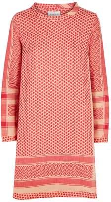 0f060536f925 at Harvey Nichols · CECILIE copenhagen CECILIE Copenhagen Red Cotton  Jacquard Dress