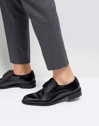 Base London Rexley Hi Shine Derby Shoes in Black