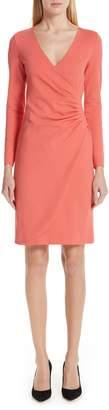 Emporio Armani Punto Milano Faux Wrap Dress