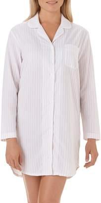The White Company Stripe Cotton Sleep Shirt