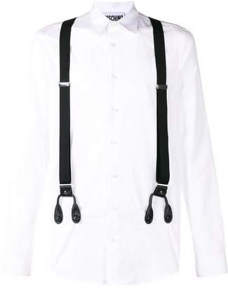 Moschino suspender shirt
