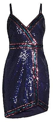 BCBGMAXAZRIA Women's Sequin Mini Dress - Size 0