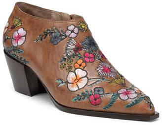 edc9fff3c589 Donald J Pliner Rieta Leather Ankle Booties w  Flowers