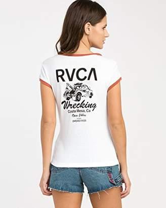 RVCA Junior's Wrecking V-Neck T-Shirt