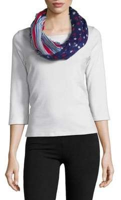 Collection 18 Star-Print Infinity Scarf