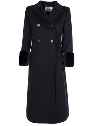 Fendi Fur Cuff Double Breasted Coat